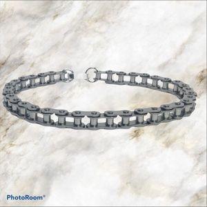 Unisex bicycle chain bracelet